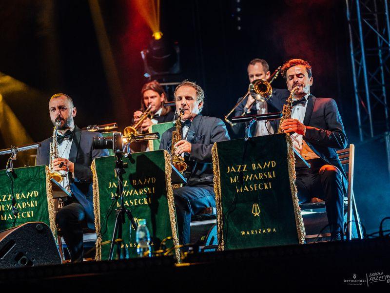 Na zdjęciu koncert Młynarski Masecki Jazz Band podczas festiwalu Love Polish Jazz Festival w Arenie Lodowej