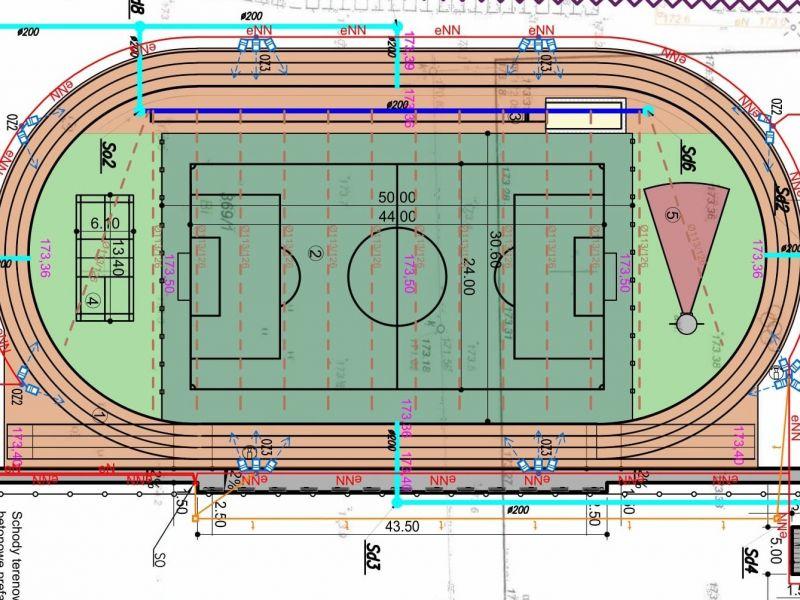 Na zdjęciu projekt architektoniczny nowego boiska