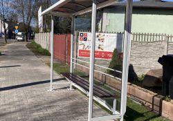 Nowa wiata przystankowa na ulicy Popiełuszki